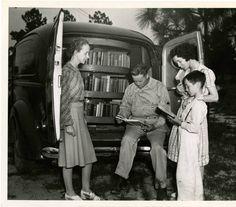 Bookmobile, Cumberland County, North Carolina, 1941.