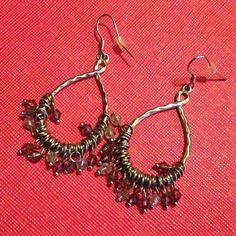 Cute earrings Silver with blue beads LOFT Jewelry Earrings