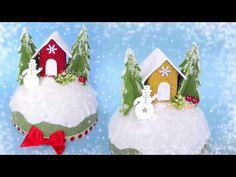 HOBBYBEL blog & youtube Winter Christmas, Christmas Ornaments, Decorating Your Home, Snow Globes, Gingerbread, Diy And Crafts, Tutorial, Holiday Decor, Creative