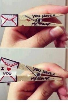 Eine kleine Liebesnachricht, die sich dem Liebsten leicht unterschmuggeln lässt.