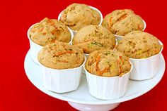 yummy! Used 1/4 cup hemp seed instead of nuts, doubled rest of recipe except ginger and nutmeg.  Prolly had more than 2 cups carrots  shredded in food processor.  Made 12 reg. muffins and 22 minis.