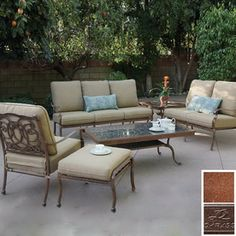 rst outdoor zen 7 piece patio dining set with sunbrella cushions search