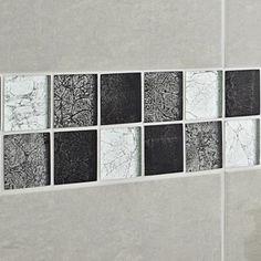 Mosaique De Salle De Bain Et Cuisine Aluminium Et Verre Ceti Gris