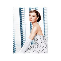 FUNNY FACE, Audrey Hepburn, (in a Givenchy evening gown), 1957 Photo ($25) ❤ liked on Polyvore featuring home, home decor, wall art, food & beverage, foods, subjects, audrey hepburn wall art, photo poster, audrey hepburn poster and photo wall art