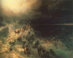 """Deluge"" Ivan Aivazovsky (Russia, 1864). More beautiful paintings of Aivazovsky in a slideshow here!"