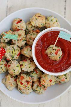 Pesto Chicken Veggie Meatballs Recipe