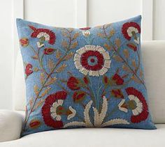 Bibiana Embroidered Cushion Cover