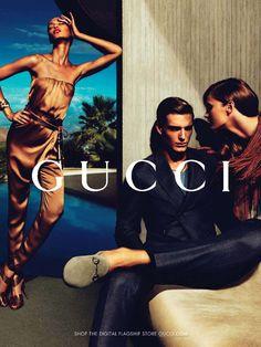 Karmen Pedaru, Joan Smalls & Hailey Clauson by Mert & Marcus for Gucci Spring 2011 Campaign