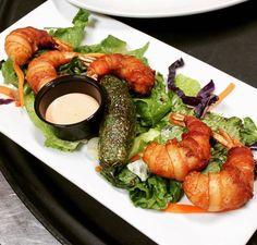 Perfect way to start your meal this weekend! @milpa_denton #BaconWrappedShrimp appetizer never disappoints  served with a deep-fried #jalapeño toreado  #tgif #milpadenton #dentonslacker #denton #dentontexas #dentontx #dentoning #wedentondoit #wddi #unt #twu #dentonite #doingitdenton #dentonproud