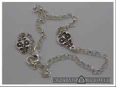 Sterling Silver Sugar Skull Bracelet