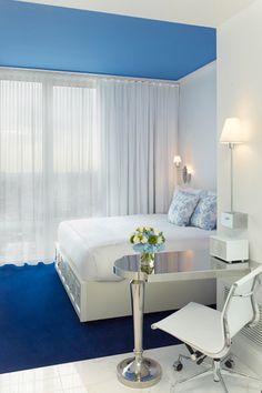 Morgans Hotel, NYC #guest room #hotel design