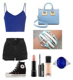 """""""Sunday"""" by veronicaleigh777 on Polyvore featuring Glamorous, Topshop, Sophie Hulme, MAC Cosmetics, NARS Cosmetics and Converse"""