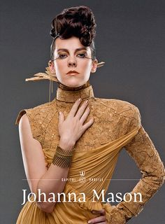 Johanna Mason (Jena Malone) is the cover girl for the summer issue of Capitol Couture.