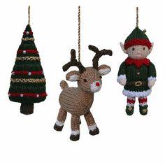 Christmas Tree, Reindeer and Elf Knitting pattern by Knitables | Knitting Patterns | LoveKnitting