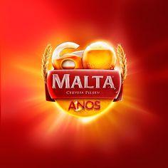 / Institutional Campaign celebrating the anniversary of Cervejaria Malta. Creative Flyers, Creative Posters, Ad Design, Logo Design, Food Brand Logos, Malta, Flyer Design Inspiration, 3d Text, Best Ads