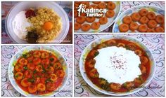 Fellah Köftesi Tarifi Turkish Recipes, Ethnic Recipes, Chana Masala, Mashed Potatoes, Salsa, Cooking, Desserts, Food, Bulgur