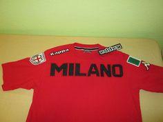 NEW AC MILAN MILANO  Fútbol  Football   SOCCER  T SHIRT M - KAPPA  NWT - Red #Kappa #ACMilan