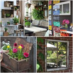 Needs some ideas for your outdoor decoration? You can do some nice decorations with those old things taking the dust and not used anymore inside your house! Here are some repurposing ideas of nice outdoor decoration for your inspiration! A…