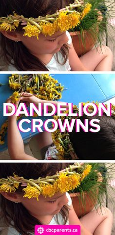 My 9-year-old daughter was busy at the table for over an hour, happily weaving these little yellow weeds into crowns for herself and the children in my daycare. #dandelion #crown #flowercrown #flowercrafts #flowercraftsforkids #flowercrowndiy #diy #diycrafts #diyflowercrown #spring #springcrafts #springcraftsforkids #naturecrafts #naturecraftsforkids #howtomakeflowercrown #crafts #craftsforkids #craftsdiy