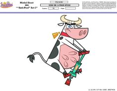 Cow on a Pogo Stick | The Fairly Oddparents by Butch Hartman