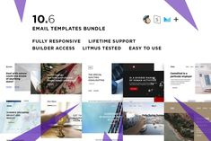 10 Email templates bundle VI by ThemesCode Mozilla Thunderbird, Responsive Email, Aol Mail, Email Templates, Design Templates, Monitor, Save Your Money, Portfolio, Getting Things Done