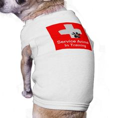 Service Animal In Training Dog Tshirt $24.95 This Medical Cross with Dog Paw on a red background stands out and lets others know you have a working animal. Service Animal in Training. Just Sold!!