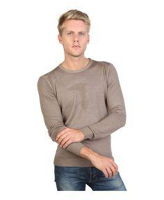 Trussardi jeans - abbigliamento uomo - girocollo, slim fit - composizione: 100% lana - lavare 30°c - Maglie uomo 52m03 Marrone