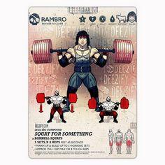 leg exercise: barbell squats - rambro