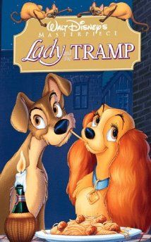 Lady and the Tramp [VHS] - - Generations of fan have fallen in love with walt disney animated masterpiece an irresistible song-filled adventure about lady, a lovingly pampered cocker spaniel, and Walt Disney, Dvd Disney, Disney Dogs, Disney Posters, Disney Films, Disney Fan Art, Disney Pixar, Disney Characters, Ralph Fiennes