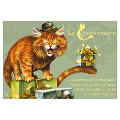 Carte postale de chat de Séverine Pineaux, Channiversaire mod. 1