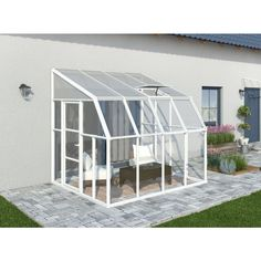 Rion Sun Room 8 ft. x 8 ft. Clear Greenhouse-702121 - The Home Depot