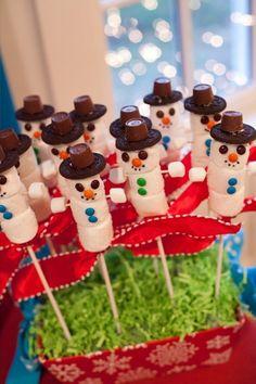 "Photo 1 of 40: Winter Wonderland, Snowman, Snowflake / Birthday ""Snowman birthday"" | Catch My Party"