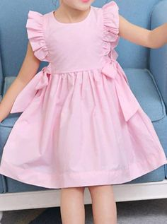 Girls Frock Design, Kids Frocks Design, Baby Frocks Designs, Frocks For Girls, Dresses Kids Girl, Baby Girl Dress Patterns, Children's Dress Patterns, Kids Dress Wear, Spring Dresses Casual