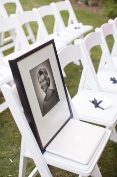 Remembering those who can't be there on your special day. Greatest idea going to have a picture of my Grandaddy on a chair bc he was so special and he will be there on my wedding day alive or not I will have a picture of him on a chair Wedding Events, Wedding Ceremony, Our Wedding, Dream Wedding, Wedding Stuff, Wedding Blog, Camo Wedding, Cheap Wedding Food, Wedding Meme