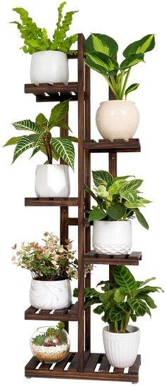 Indoor Corner Plant Stand, Tiered Plant Stand Indoor, Tall Indoor Plants, Indoor Flower Pots, Indoor Plant Pots, Indoor Outdoor, Corner Plant Shelf, Wooden Plant Stands Indoor, Tall Plant Stands