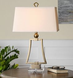 Antonina, Modern Gold Table Lamp by Billy Moon