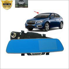 For chevrolet cruze aveo captiva lacetti Car DVR Blue Screen Rearview Mirror Video Recorder Car Dual Camera 5 INCH Car Black Box