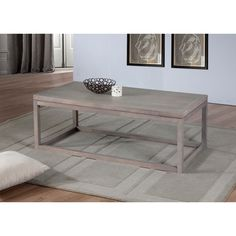 $144 - Studio Dove Finish Coffee Table   Overstock™ Shopping - Great Deals on Coffee, Sofa & End Tables