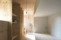 The Ant House, Plywood Contemporary Japanese Interior