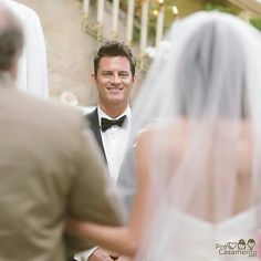 """186 Likes, 3 Comments - Pré Casamento (@precasamento) on Instagram: """"O olhar do noivo, aguardando sua princesa #precasamento #sitedecasamento #bride #groom #wedding…"""""""