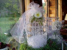 Decorative Bird Cages make great accents to your Wedding Gift Table and are perfect to receive cards from your guests