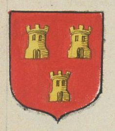 Denis GUENIVEAU, l'ainé, Assesseur honoraire au siège de Sénéchaussée de Saumur. Porte : de gueules, à trois tours d'or | N° 238 > Saumur