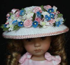 "Straw Hat for 13"" Effner Little Darling Dolls Bleuette Dolls Head Circum 6 7"" | eBay. Ends 5/8/14. Sold for $37.00."