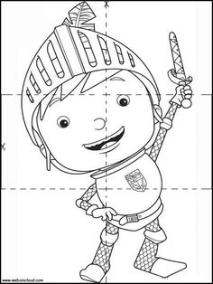 20 Mike the Knight printable coloring pages for kids. Find on coloring-book thousands of coloring pages.