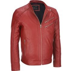 Wilsons Leather FauxLeather Moto Jacket ($110) ❤ liked on Polyvore featuring men's fashion, men's clothing, men's outerwear, men's jackets, mens faux leather moto jacket, mens faux leather jacket, mens faux leather motorcycle jacket, mens fake leather jacket and g star mens jacket