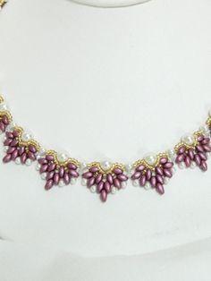 Handmade Swarovski Beaded Necklace Set Beaded by LS4Swarovski