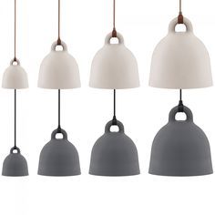 The designers of the Normann Copenhagen Bell pendant light were inspired by an old bell from the past. Andreas Lund and Jacob Rudbeck designed a perfect lamp for the living room, bedroom or hallway . Lund, Chandelier Pendant Lights, Pendant Lamp, Cool Lighting, Modern Lighting, Dining Lighting, Lighting Ideas, Norman Copenhagen, Copenhagen Design
