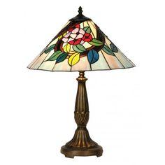 Oaks Lighting Belle Single Light Large Sized Tiffany Table Lamp