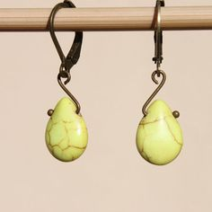 Yellow Earrings Jewelry Dangle earrings Drop earrings small