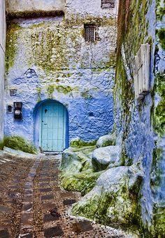 #door Chefchaouen, Morocco